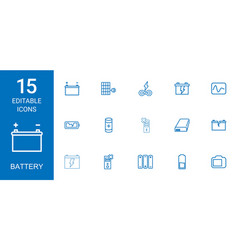 Battery icons vector
