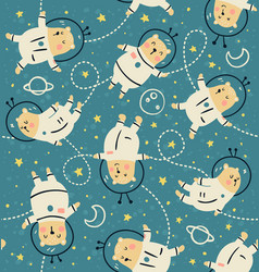 Bearstronauts pattern vector
