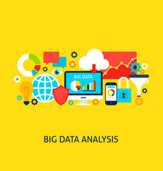 Big data analysis concept vector