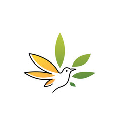 bird cannabis logo icon vector image