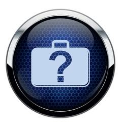Blue honeycomb bag icon vector