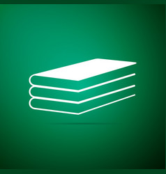 books icon isolated on green background vector image