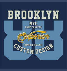 brooklyn nyc superior vector image