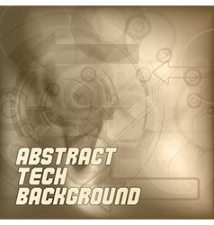 Brown Tech Background vector image