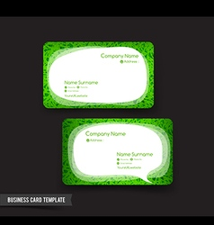 Business Card template set 52 green grass and vector
