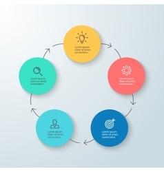Business infographics minimalistic diagram chart vector