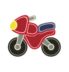 Cartoon baby motorbike vector