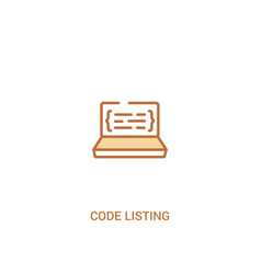 Code listing concept 2 colored icon simple line vector