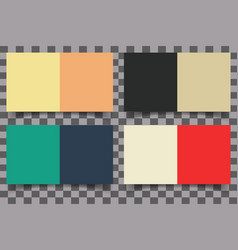 Colored squares with shadow vector