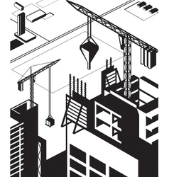Construction of high buildings vector