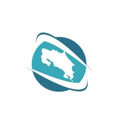 Costarica traveling logo design template vector