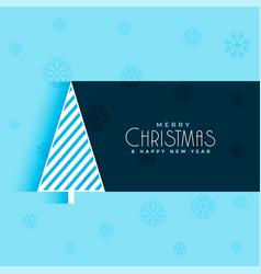 creative christmas tree design blue background vector image
