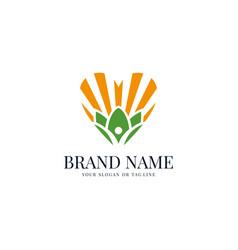Creative human health logo design vector
