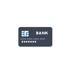 credit card related glyph icon vector image
