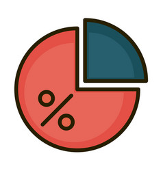 Diagram pie chart report financial business stock vector