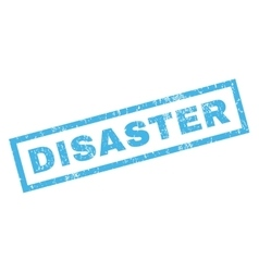 Disaster Rubber Stamp vector image