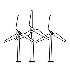 Eco energy wind turbine icon outline style vector