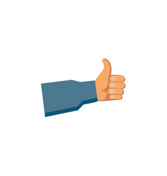 flat handyman hand thumbs up vector image