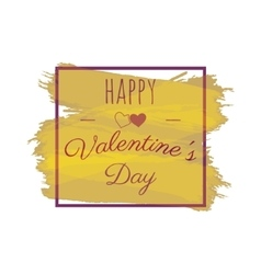 Happy Valentines Day greeting lettering vector image