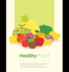 Healthy food background with fruits 2 vector