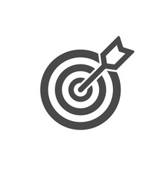 icon target dart on white vector image