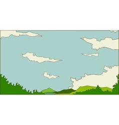 Idyllic landscape scene vector