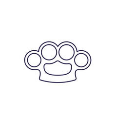 knuckles line icon on white vector image