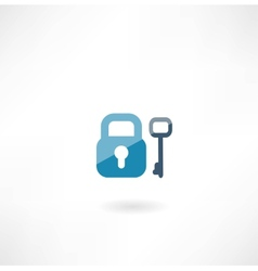 lock with key icon vector image