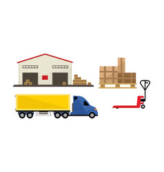 logistic and transportation warehouse storage vector image