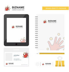 magical hands business logo tab app diary pvc vector image