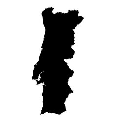 map of portugal vector image