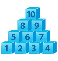Number block from one to ten vector