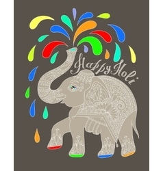 Original greeting card Happy Holi design with vector