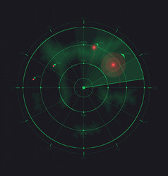 radar screen futuristic hud radar display vector image