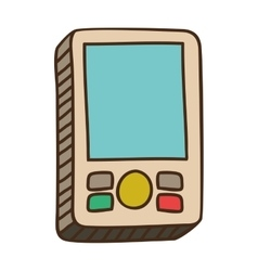 Retro videogame icon vector