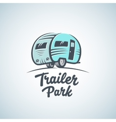 Rv van or trailer park logo template vector
