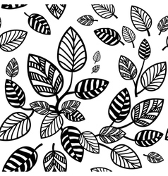 Seamless leaves background vector