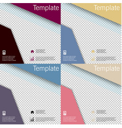 Set business presentation template from vector