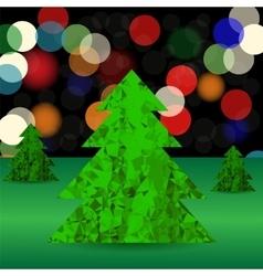 Set of Green Polygonal Trees vector