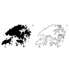 simple only sharp corners map hongkong hong vector image