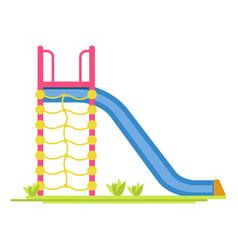 Sliding board on playground vector