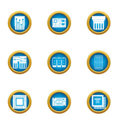 soldering scheme icons set flat style vector image