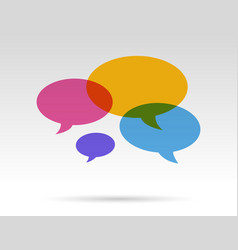 speech bubbles talk vector image