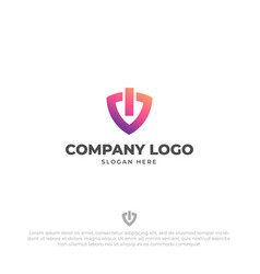 tech security logo design template vector image
