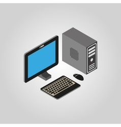 The computer icon PC desktop symbol3D isometric vector