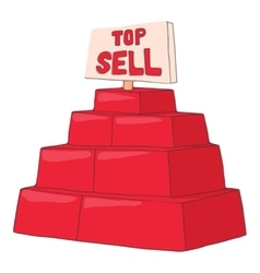 Top sell products icon cartoon style vector