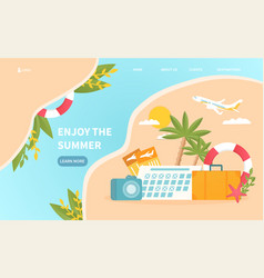 travel agency abstract web template vector image
