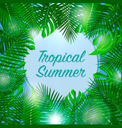 Tropical summer background season vacation vector