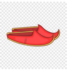 Turkish shoes icon cartoon style vector