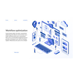 workflow optimization isometric concept vector image